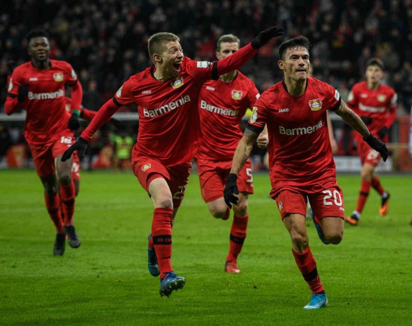 Crédito: Na ida, Bayer Leverkusen venceu Rangers com tranquilidade na Escócia (AFP