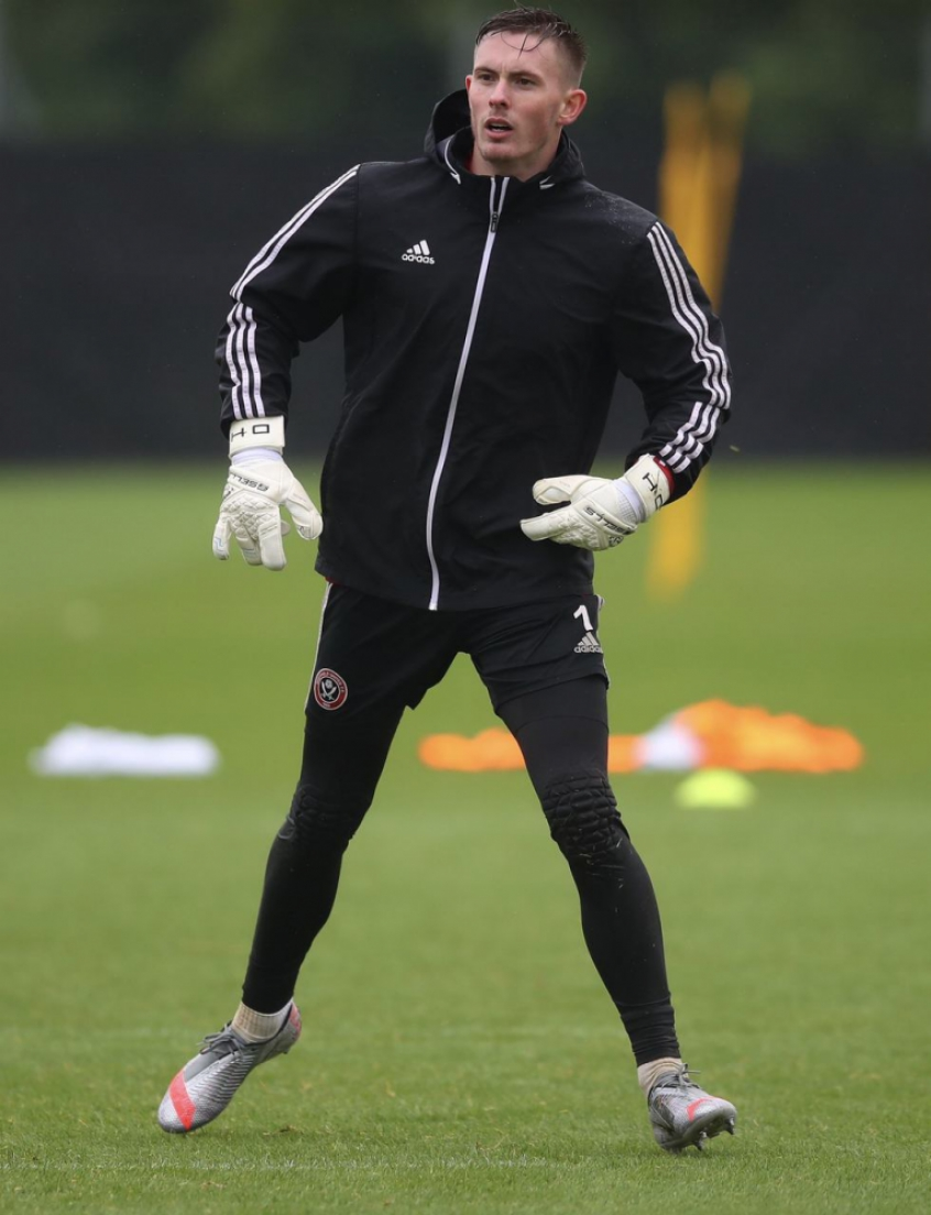 Crédito: Henderson fez ótima temporada com a camisa do Sheffield United (Divulgação / Sheffield United