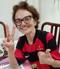 Dona Sylvina não perde um jogo do Flamengo. Crédito: Acervo Pessoal
