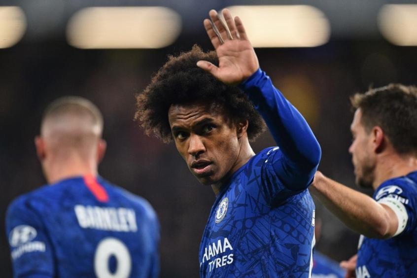 Crédito: Willian atuou por sete anos com a camisa dos Blues (AFP