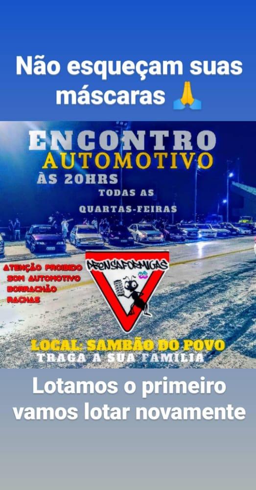 Convite para encontro de carros no Sambão do Povo foi divulgado em redes sociais