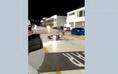 Motociclista cai ao fazer manobra proibida no Sambão do Povo, em Vitória
