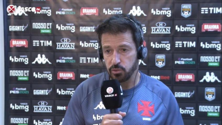 Crédito: Ramon elogiou entendimento dos atletas do Vasco (Reprodução