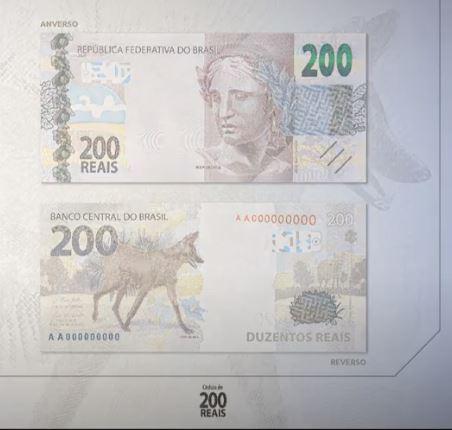 Nova cédula de R$ 200 terá tamanho da nota de R$ 20