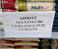 Supermercado em Cariacica limita quantidade de produtos por cliente. Crédito: Foto do leitor