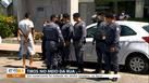 Polícia Militar no local do crime em Jardim Limoeiro, na Serra