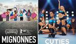Comparação entre o cartaz original do filme, à esquerda, e o divulgado pela Netflix, à direita