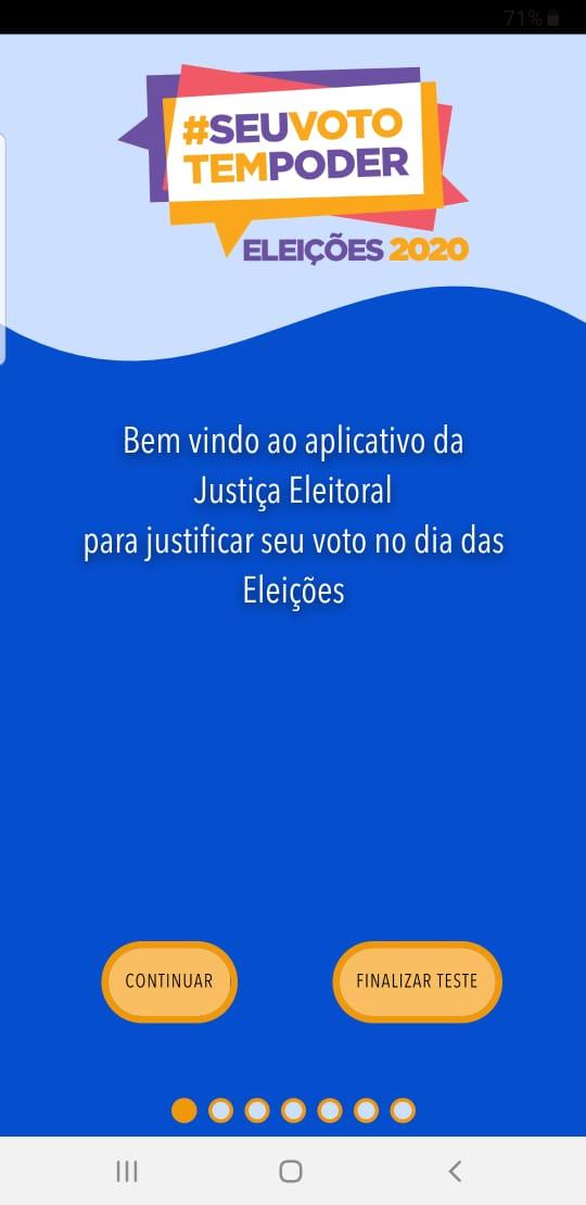 Aplicativo JustificaES, da Justiça Eleitoral