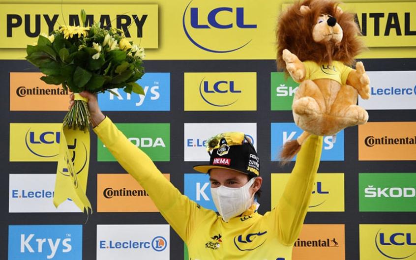 Crédito: Primoz Roglic (foto chegou em segundo lugar na etapa rainha (vencida por Miguel Angel López) , manteve a camisa amarela (líder da classificação geral) e é o grande favorito para o título do Tour de France-2020 (AFP)