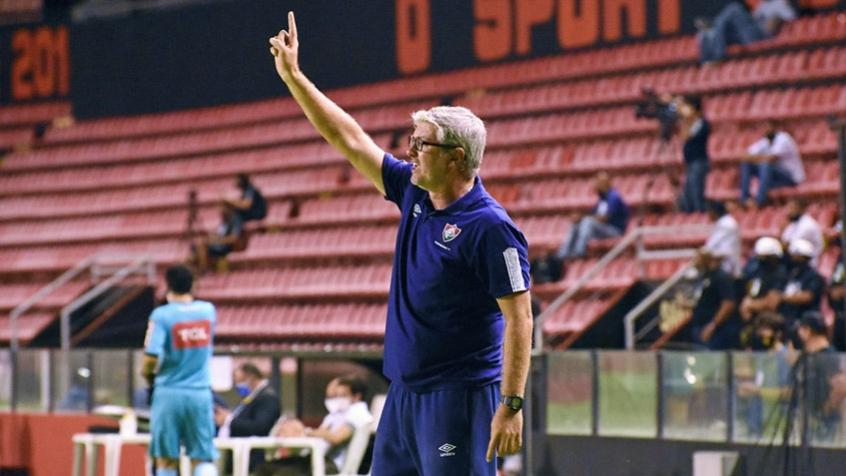 Crédito: Odair classificou o resultado contra o Sport como injusto diante do que as equipes apresentaram em campo (Mailson Santana/Fluminense