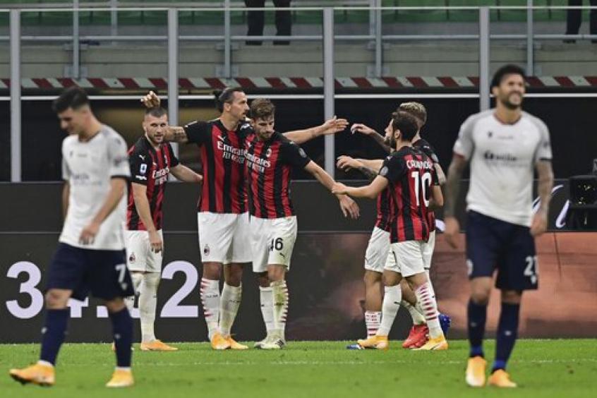Crédito: Ibrahimovic já tem três gols na temporada em apenas duas partidas (MIGUEL MEDINA / AFP