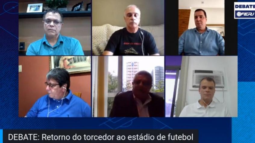 Crédito: 'Em Rondônia, o governo já liberou 40% da capacidade dos estádios. Acho que em breve vou pedir aumento', disse Rubens Lopes (Reprodução / TV Ferj