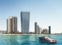 Em destaque, edifício do prédio Residences By Armani Casa, de Giorgio Armani, em Miami (EUA)