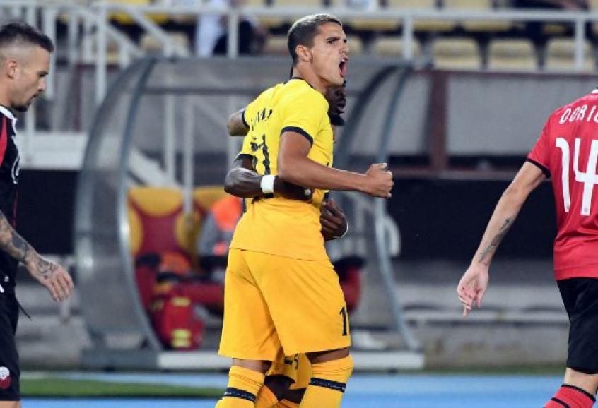 Crédito: Lamela marcou o primeiro gol do Tottenham na partida (Robert ATANASOVSKI / AFP