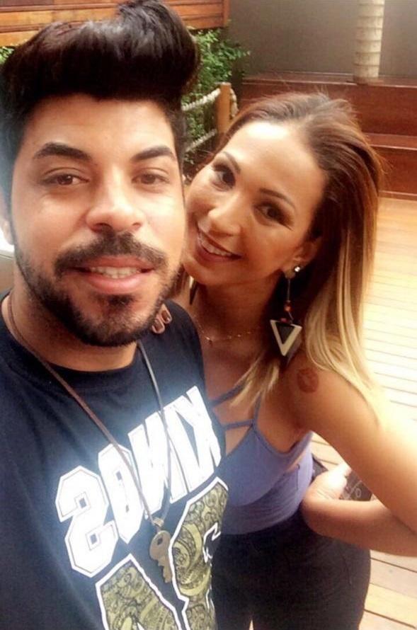 O produtor Rubinho Neto e a cantora Valesca Popozuda
