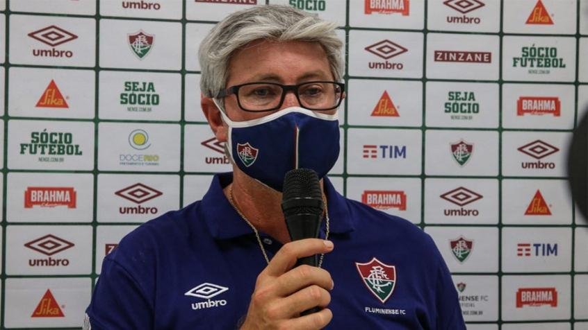 Crédito: Odair Hellmann lamenta mais uma eliminação em mata-matas sob o comando do Fluminense (LUCAS MERÇON / FLUMINENSE