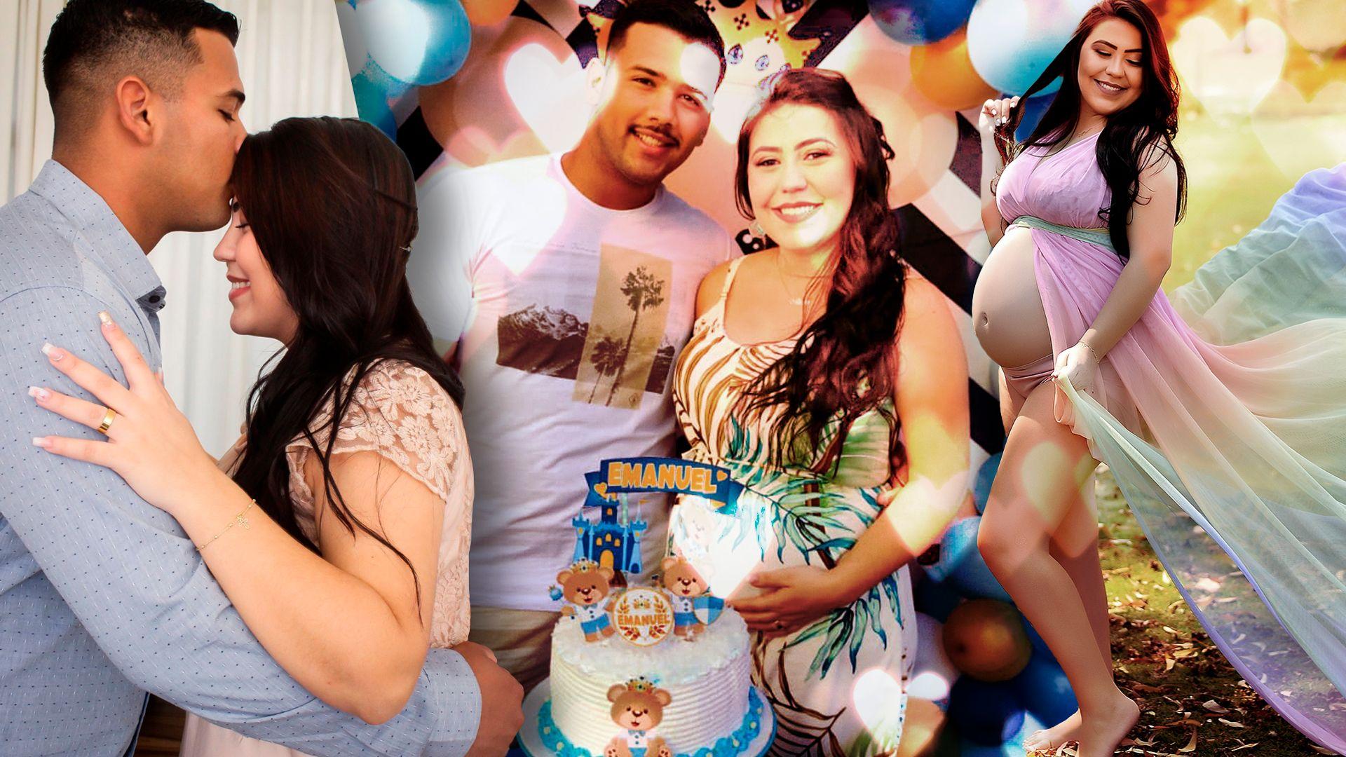 Amanda Guedes e o pai da menina Alice