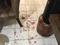 Manchas de Sangue ficaram espalhadas pela casa da vítima. Crédito: Divulgação
