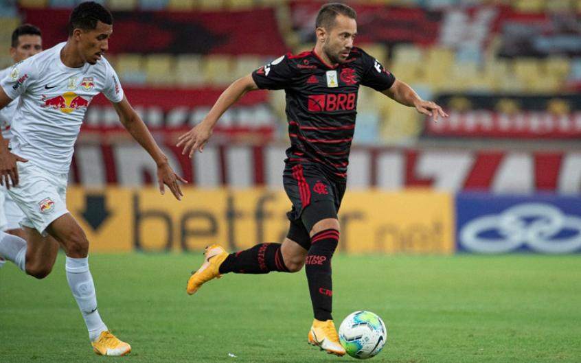 Crédito: Everton Ribeiro esteve em campo na quinta, pelo Flamengo, após jogar pelo Brasil na terça (F: Alexandre Vidal/CRF