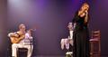 O violinista Luis Filipe De Lima e a cantora Elisa Lucinda