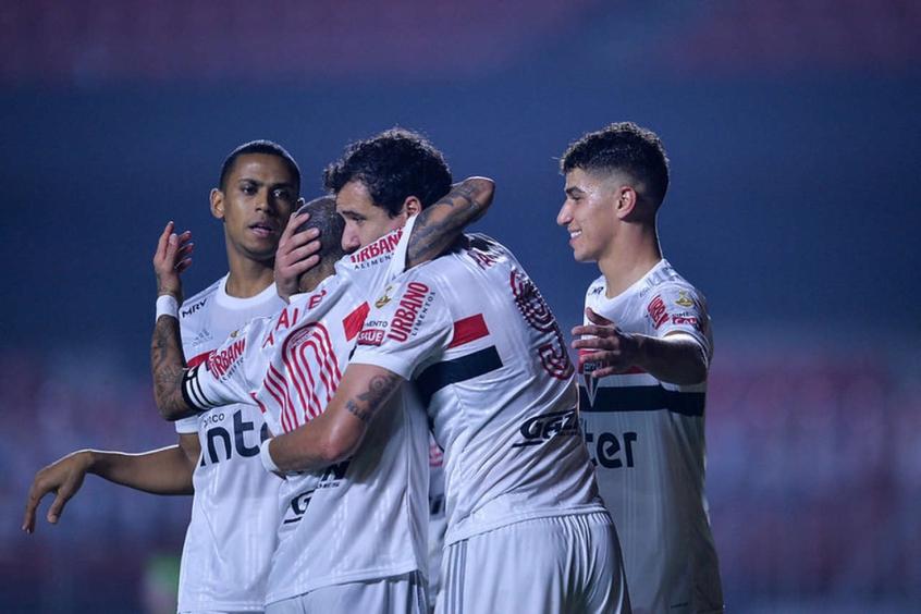 Crédito: Pablo comemora gol marcado no Binacional (Rubens Chiri/saopaulofc.net