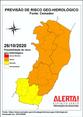 Possibilidade de risco de deslizamento de terra e deslocamento de massas no ES para a segunda-feira (26)