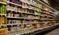 Gôndolas de supermercado: preços altos afastaram consumidores. Crédito: Pixabay