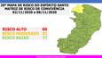 29º Mapa de Risco traz apenas o município de Ecoporanga como fora do risco baixo para a transmissão do novo coronavírus