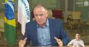 O governador Renato Casagrande durante pronunciamento nesta quarta-feira (18)