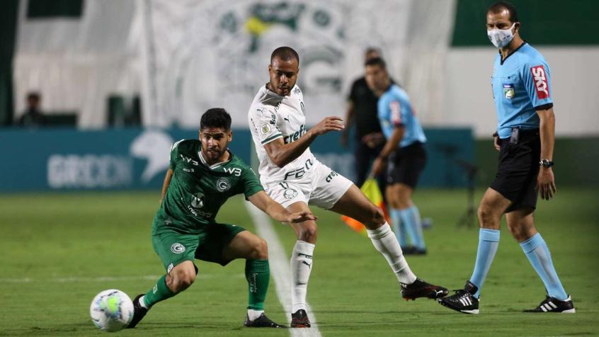 Crédito: Expulsão de Mayke deixou equipe com um a menos desde o primeiro tempo (Cesar Greco/Agência Palmeiras