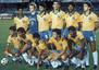 A Seleção Brasileira durante partida da Copa América, em 1989