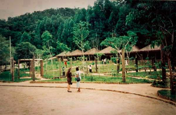 Pátio do Maanaim na década de 1980
