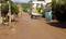 Ruas de Pancas ficam cobertas por lama na manhã desta sexta-feira . Crédito: Defesa Civil de Pancas