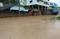 Chuva deixou ruas alagadas em Pancas . Crédito: Virgílio Braga