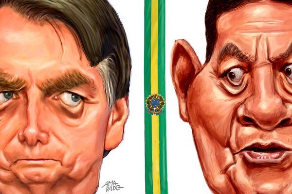 Guerra e Paz: diferenças de Hamilton Mourão para Jair Bolsonaro | A Gazeta