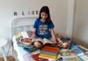 Alice é uma leitora voraz Foto: Acervo pessoal