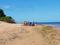 Mulher com idade estimada em 25 anos morreu na beira do mar da Praia de Manguinhos, na Serra. Crédito: Leitor de A Gazeta