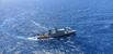 """Navio-Patrulha """"Macaé"""" durante operação de buscas. Embarcação fez o recolhimento e traslado do quinto corpo encontrado"""