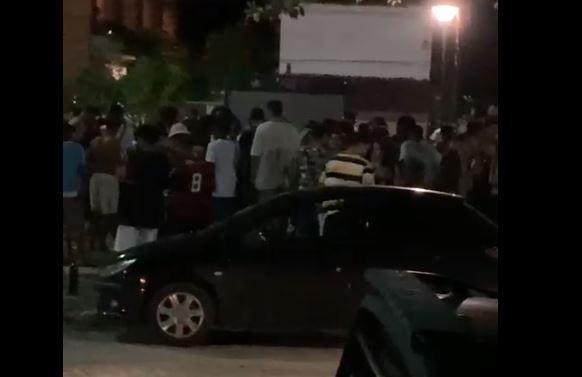 Festa foi registrada por moradores também na Barra do Jucu, em Vila Velha