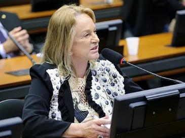 A deputada federal Magda Mofatto (PL - GO) durante sessão da comissão