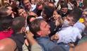 Jair Bolsonaro em aglomeração no Nordeste