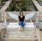 A iniciativa de revitalizar a escadaria do bairro São Vicente foi da diretora de marketing Joelma Fávero Gusson. Crédito: Acervo Pessoal