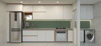 A arquiteta Aline Lacerda também recomenda o uso de armários fechados na cozinha. Isso porque, eles são capazes de esconder mais os objetos e manter a organização visual do ambiente.
