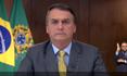 Presidente Jair Bolsonaro em pronunciamento nesta terça-feira (23)
