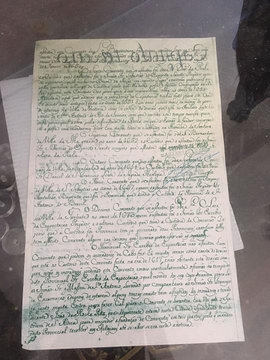 Documento mostra o relato da viagem de D. Pedro II ao Espírito Santo