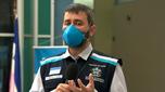 O secretário de Estado da Saúde, Nésio Fernandes, em entrevista à TV Gazeta