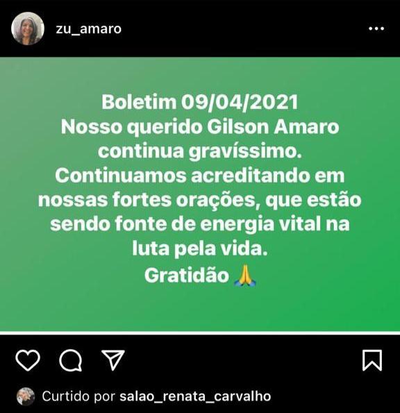 Postagem em rede social nega morte do ex-prefeito Gilson Amaro