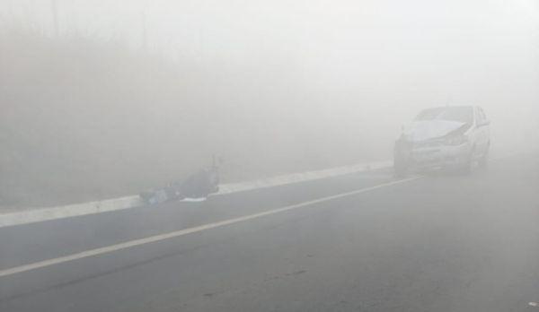 Acidente entre moto e carro mata uma mulher em Boa Esperança. Crédito: Telespectador | TV Gazeta Norte