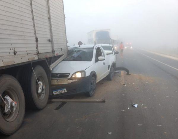 Acidente entre moto e carro mata uma mulher em Boa Esperança