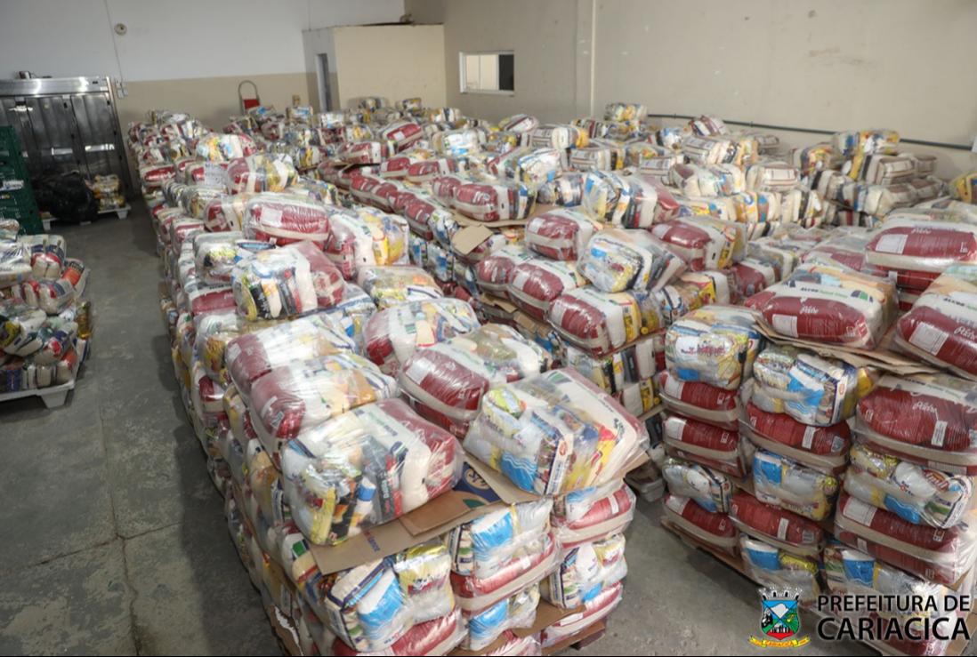 Donativos serão entregues às famílias em vulnerabilidade social em Cariacica. Crédito: Cláudio Postay/PMC